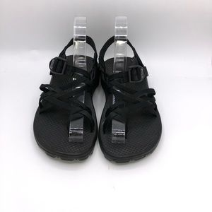 Chaco Z Cloud 2 Black Athletic Strappy Sandals 7W